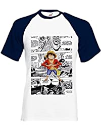 One Piece Monkey Luffy Manga Comic Manga Black/White Men Women Unisex Shirt Sleeve Baseball T Shirt