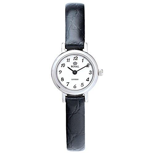 Royal London 20010–06–Reloj de pulsera de mujer, correa de piel color marrón