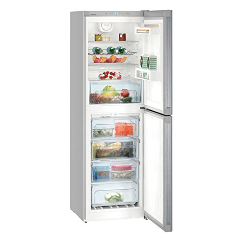 Liebherr CNEL4213 Freestanding NoFrost 294 litre Fridge Freezer Silver with DuoCooling Electronic Control System and Automatic Defrost Function, Reversible Door, 60cm Width
