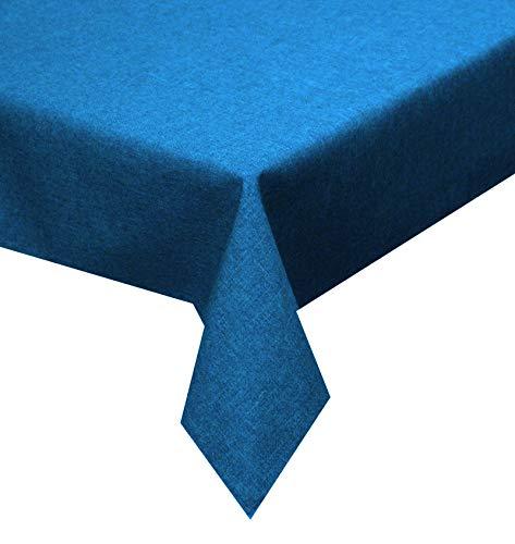 Tischdecke blau 130x160cm Lotuseffekt, abwaschbar, Schmutz- und Wasserabweisend, eckig - Größe,...