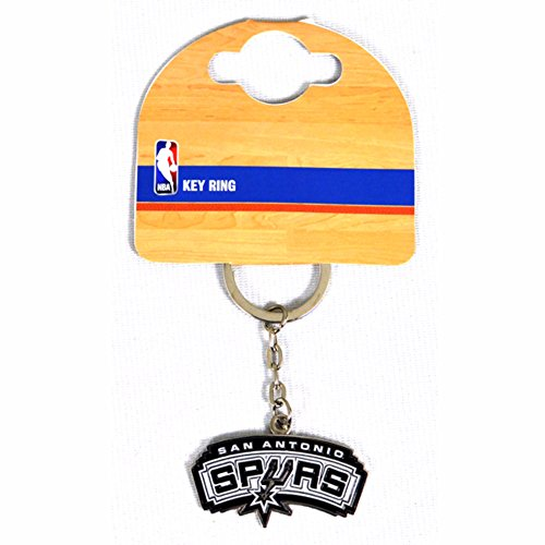 San Antonio Spurs NBA Metall Wappen Schlüsselanhänger (Einheitsgröße) (Bunt)