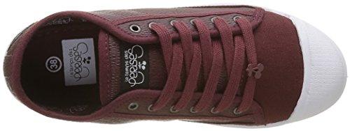 Le Temps des Cerises - Basic 02, Sneaker Donna Rosso (Rouge (Snake Wine))