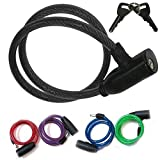 Guilty Gadgets ® - Lucchetto a Spirale per Bicicletta, ad Alta Sicurezza, Ideale per Esterni, per Bambini e Adulti