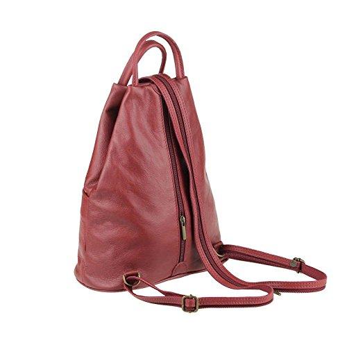 785ef8bb62f1a4 ... OBC Made in Italy Damen echt Leder Rucksack Lederrucksack Tasche  Schultertasche Ledertasche Daypack Backpack Handtasche Nappaleder ...