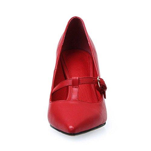 COOLCEPT Damen Pumps mit Absatz Stilett Spitze Toe Slip On Elegant Schuhe 2016 Rot
