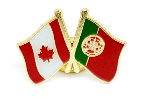 Anstecknadel, kanadische Flagge, Flagge der unifolié Ahornblatt Kanada-Set, verschiedene Farben, mit Nationalflagge, Metall, Emaille, Design-Geschenk für, Herren, für Mäntel, Hüte, Taschen, Rucksäcke Portugal (Mantel Portugal)