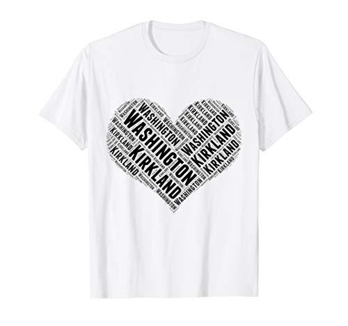 State Heart WASHINGTON Tshirt KIRKLAND Home Tee