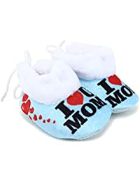 fb0c8878ee072 Superminis Baby Girls and Baby Boys Ankle Length with Heart Print Soft Base  Booties Shoes (0-6 Months