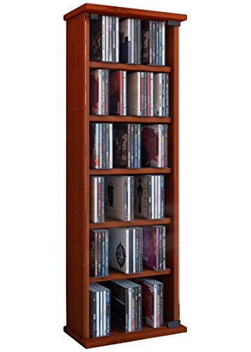 cd holders furniture. vcm cd dvd vetro tower cherry wood cd holders furniture d