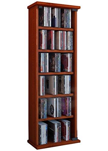 41yycctR%2BaL - VCM Vetro-Torre para CD/DVD, para 150 CDs, Color Cerezo
