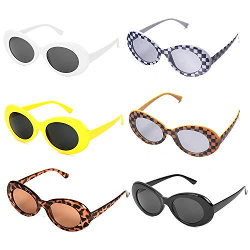 OAONNEA Ovale Sonnenbrille UV400 Vintage für Damen Herren