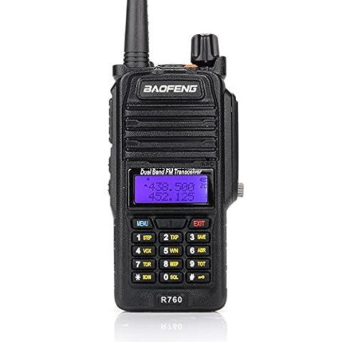 BAOFENG R760 Waterproof IP57 136-174/ 400-520MHZ Dual Band Ham Two-way radio Walkie Talkie Transceiver