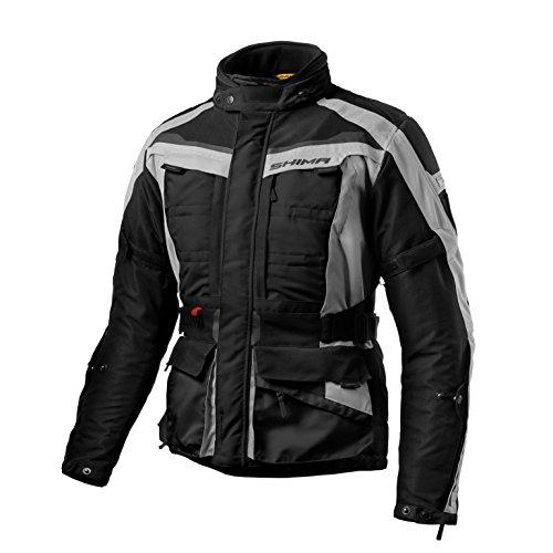 Preisvergleich Produktbild SHIMA Horizon Herren Reisen Entlüftet Motorradjacken Rückenprotektor Mesh Sommer Kurz, Grey, Größe S