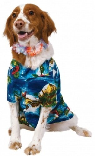 Haustier Hund Katze Hawaiihemd & Lei Hula Luau Kostüm Kleid Outfit Kleidung Kleidung S-XL - (Luau Outfits)