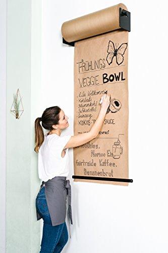 CozyHome Studio Roller – Stylische Wand Papier-Halterung für Büro, Café oder Zuhause – Innovative Alternative zu Whiteboard, Flipchart oder Infotafel (Halter Wand Studio)