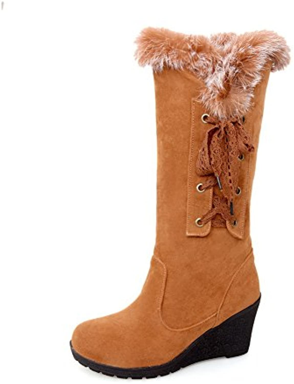 AdeeSu Stivali Stivali Stivali da Neve Donna Giallo (giallo), 35 EU, SXC00216 | Sconto  b7eda7