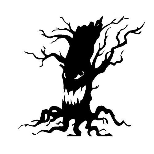 KGTHSS Gruselige Baum Vinyl Wall Sticker Halloween Gruselige Baum Gesicht wc Aufkleber Home Decor 4 WS -0053