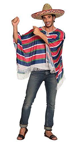 Boland 83836-Disfraz Adulto Poncho Alfonso, Rojo