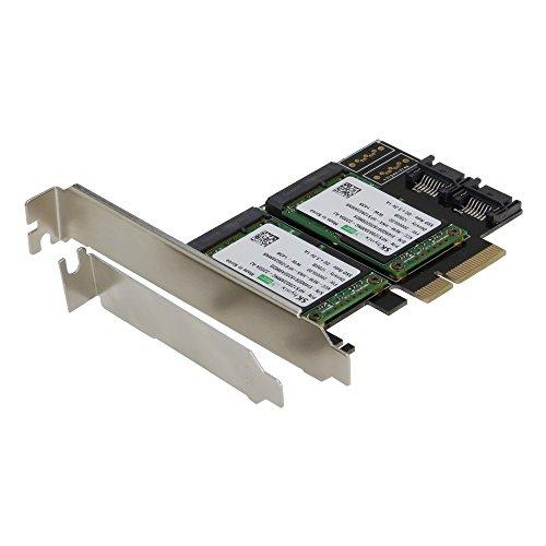 Sedna–PCIe Dual mSATA SSD RAID adattatore con 2porta SATA III e funzione di accelerazione Hyoperduo hard disk SSD (non incluso)