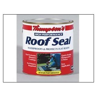 Ronseal HPRSBL4L Thompsons High Performance Roof Seal Black 4 Litre
