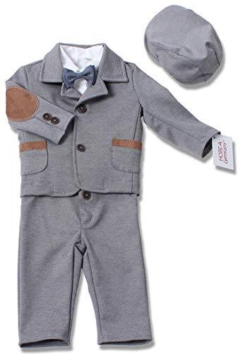 HOBEA-Germany Taufanzug Jungen, Taufkleidung Junge, Anzug Baby Junge für die Taufe für Babys und Kinder (80, Paul)