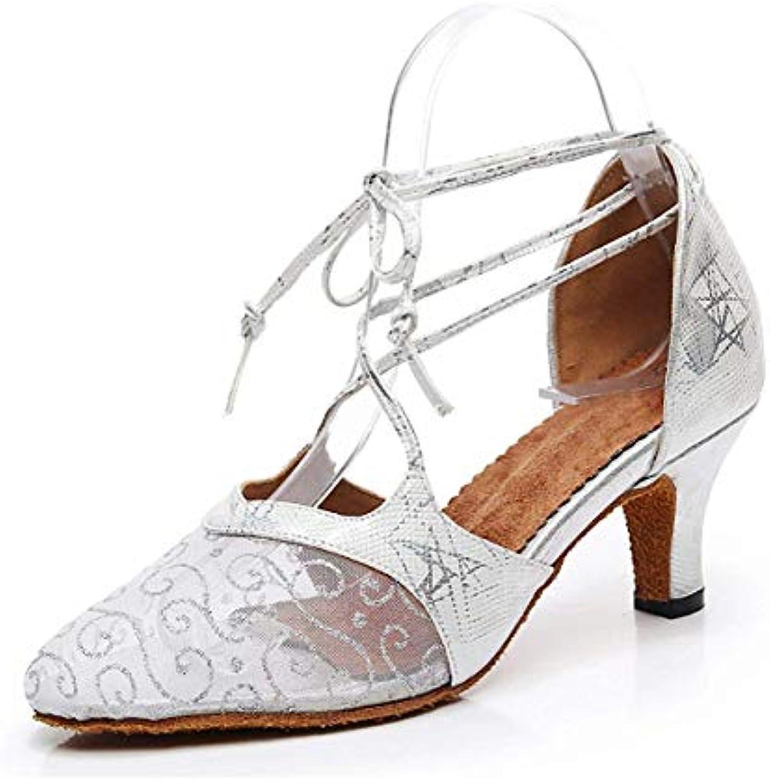 ZHRUI Ladies Floral Printed argento Mesh Almond Toe Scarpe Scarpe Scarpe da Ballo Latino Pompe da Sposa UK 7.5 (Coloreee   -, Dimensione... | Online Shop  | Uomo/Donna Scarpa  2912d3