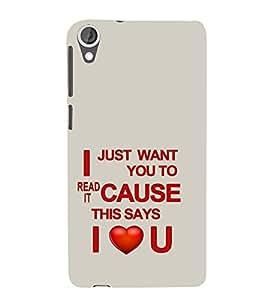 Ebby Premium 3d Desinger Printed Back Case Cover For HTC 820 (Premium Desinger Case)