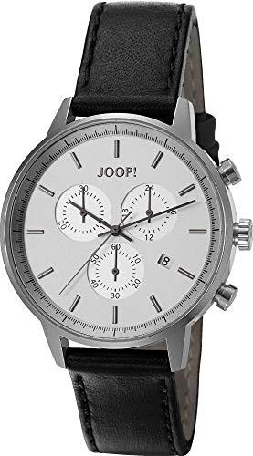 Montre Hommes Joop! Quartz - Affichage Chronographe Bracelet Cuir Noir et Cadran Argent JP101591001