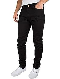 Criminal Damage Homme Skinny Jeans, Noir