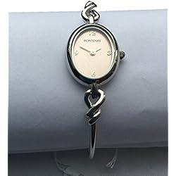 Fontenay Damen-Armbanduhr Analog Quarz Rosa Zifferblatt 3ATM Armreif, 79,00erhältlich bei 50% Discount.