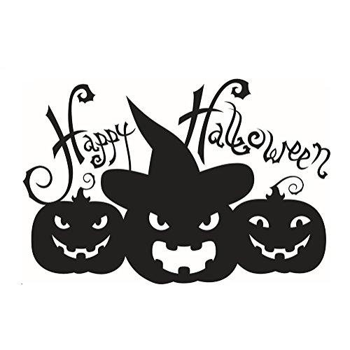 Cosanter Wandtattoo 3D Halloween Sticker Wandsticker - Halloween Kürbisse Geist Gespenst Kinderzimmer Deko Wandaufkleber für Wände, Fenster, Schränke, Türen (Für Halloween Deko-kürbisse)