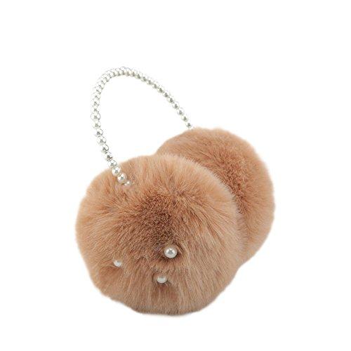 Meijunter Sweet Femmes Hiver Warm Soft Ear Muffs Faux Fourrure perle Coldproof Cache-oreilles Ear Cap 05#
