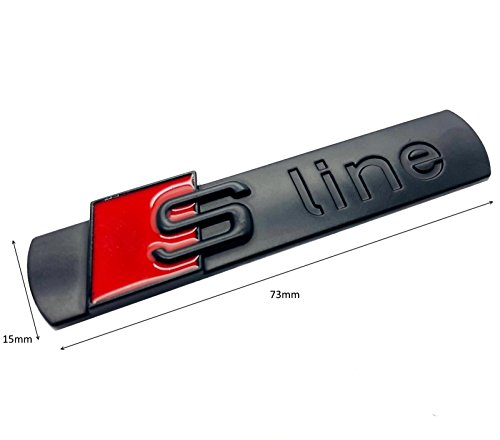 Carbon-Genetics 2 x Schwarz matt S Line Seitenflügel Kotflügel Abzeichen Emblem Aufkleben für Sline