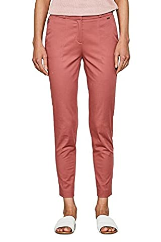 ESPRIT Collection 077eo1b004, Pantalon Femme, Rose (Dark Old Pink 675), W42/L32 (Taille Fabricant: 42)