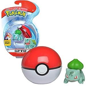 BANDAI - Pokémon-Poké Ball & sa Figura 5 cm Bulbizarre WT97643