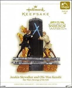 2006 caractéristique souvenir-Star Wars Figurine-Anakin Skywalker et Obi Wan Kenobi -