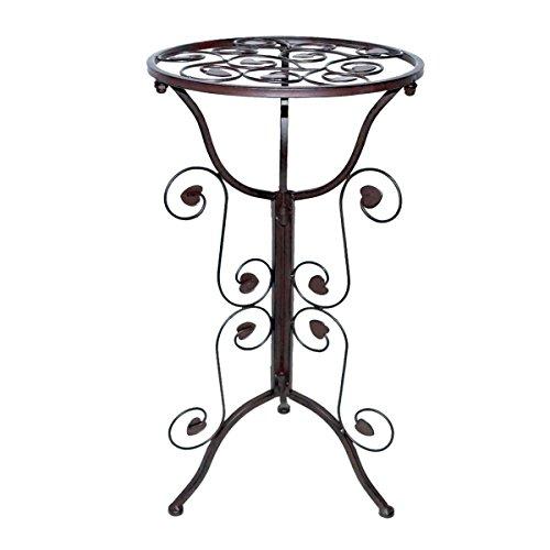 PrimoLiving Beistelltisch Tisch aus Metall im Antik-Look P-462 braun -
