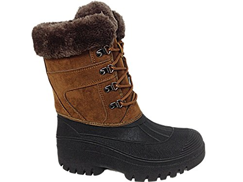 groundwork-ls005-womens-mukker-stable-yard-winter-snow-lace-up-boots-uk-5-tan