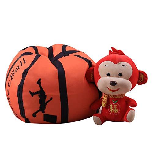 Weryffe Kreative Basketball Fußball Plüschtier Stofftier Gepolsterte Lagerung Sitzsack Stuhl...