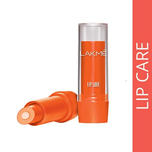 Lakme Lip Love Lip Care, Peach, 3.8 g