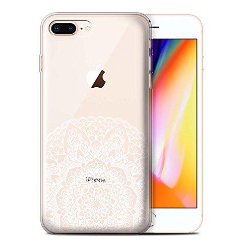 Stuff4 Gel TPU Hülle / Case für Apple iPhone 8 Plus / Feine Details Muster / Blumen Spitze Kollektion Feine Details