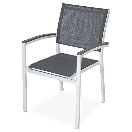 Poltrona sedia struttura alluminio tessuto grigio arredo esterno taormina 48791
