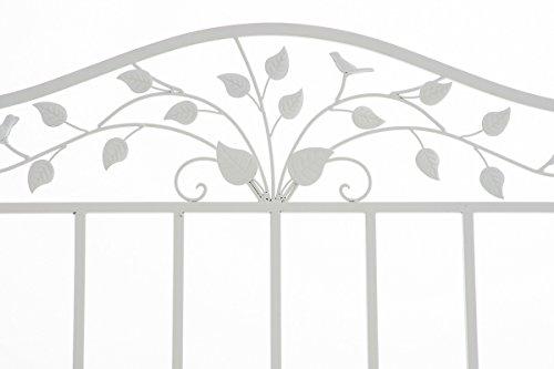 CLP Gartenbank ABIONA im Landhausstil, Eisen lackiert (Metall) ca 110 x 50 cm Weiß - 3