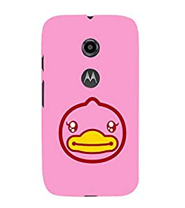 EPICCASE Happy Duck Mobile Back Case Cover For Moto E 2nd Generation (Designer Case)