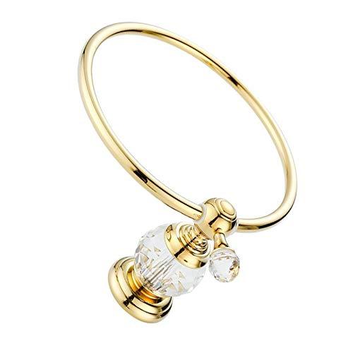 Joeesun anelli bagno bagno ciondolo portasciugamani da bagno in rame raffinato con portasciugamani, dorato