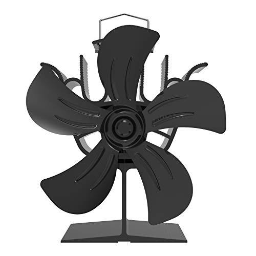 Thermoelektrischer Kaminventilator für Kamin Werkstattofen kaminofen, Großer Stromloser Ventilator mit 4 Flügels Rotorblätter Ofenventilator für Holzöfen Kamin Kaminofen Öfen(Umweltfreundlich)