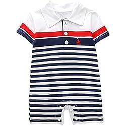 Sensail Bébé Garçon Filles Pyjamas Combinaison Grenouillère Coton Bande Dessinée Barboteuse Jumpsuit Mignon Vêtements d'escalade (Noir3, 18-24 Mois)