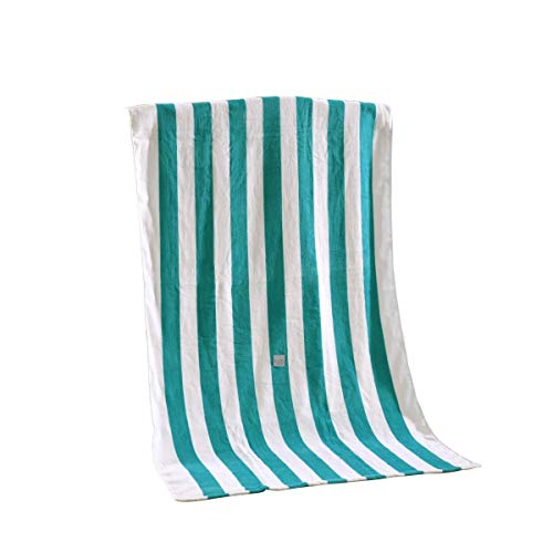 Exclusivo Mezcla Strandtuch aus 100% Baumwolle, Pool-Handtuch gestreift Blau weiß (76,2 x 152,4 cm), schnell trocknend, leicht, saugfähig und weich