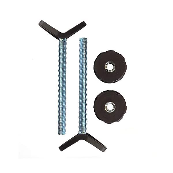 Extra Long M10 (10mm) Y-Spindle Rod Stair Bannister Adapters for Pressure Mounted Gates - 2 Pack for Baby and Pet Safety Gates - Choose Your Size and Color (10mm, Bronze) Baby Gate Guru BANNISTER ADAPTER: Padded Y-spindle rods are designed to grip onto large and small bannisters and railings at the bottom of stairs, as well as wall corners and other unorthodox shapes. Texture dots on padded end pieces help ensure a snug no-slide grip. 10MM SIZE: This 2 pack of M10 spindle rods is designed to fit pressure mounted gates with a 10mm hole. Please make sure you have the correct size for your gate. COMPATIBLE WITH: Pressure gates from Baby Dan, Lindam, Safety 1st, Bindaboo, Dreambaby, Munchkin, and North States (Supergate). Don't see your gate's brand? Try switching to the M8 (8mm) size. 1