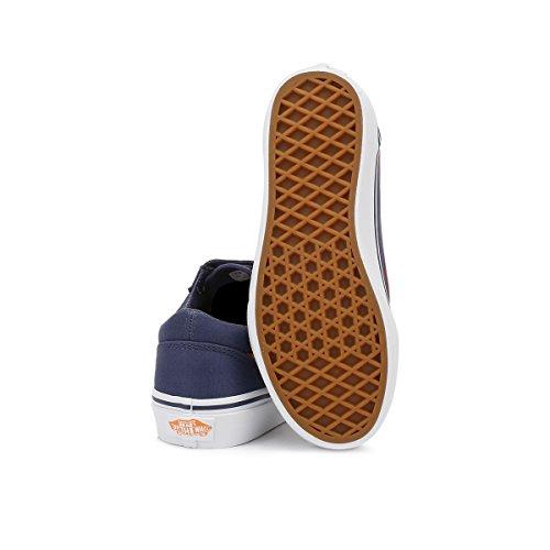 Vans Jungen Uy Old Skool V Sneakers Crown Blau/Mandarin Orange